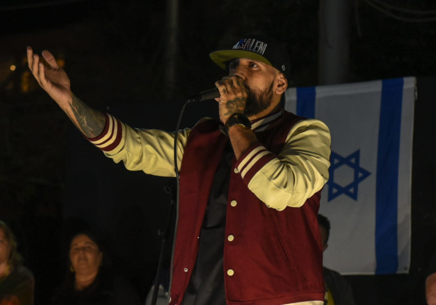 "Rapper Yossi ""The Shadow"" Eliassi, who in recent years has been known to organize counter-demonstrat"