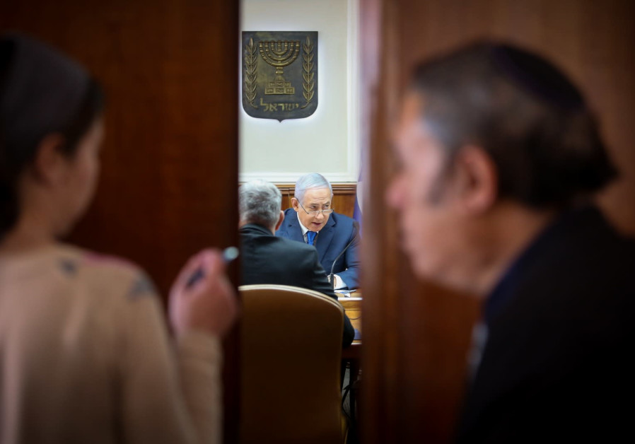 Prime Minister Benjamin Netanyahu at a weekly cabinet meeting, December 16th, 2018