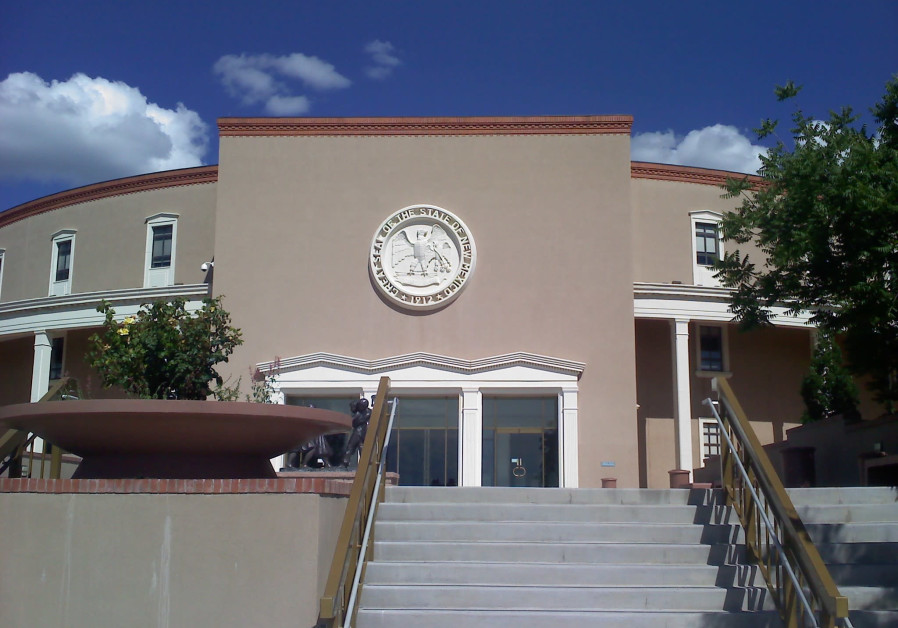 New Mexico's state capitol building in Santa Fe, NM