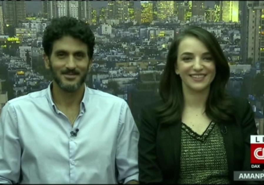 Lucy Aharish and Tzhai Halevy talk interfaith love on CNN.