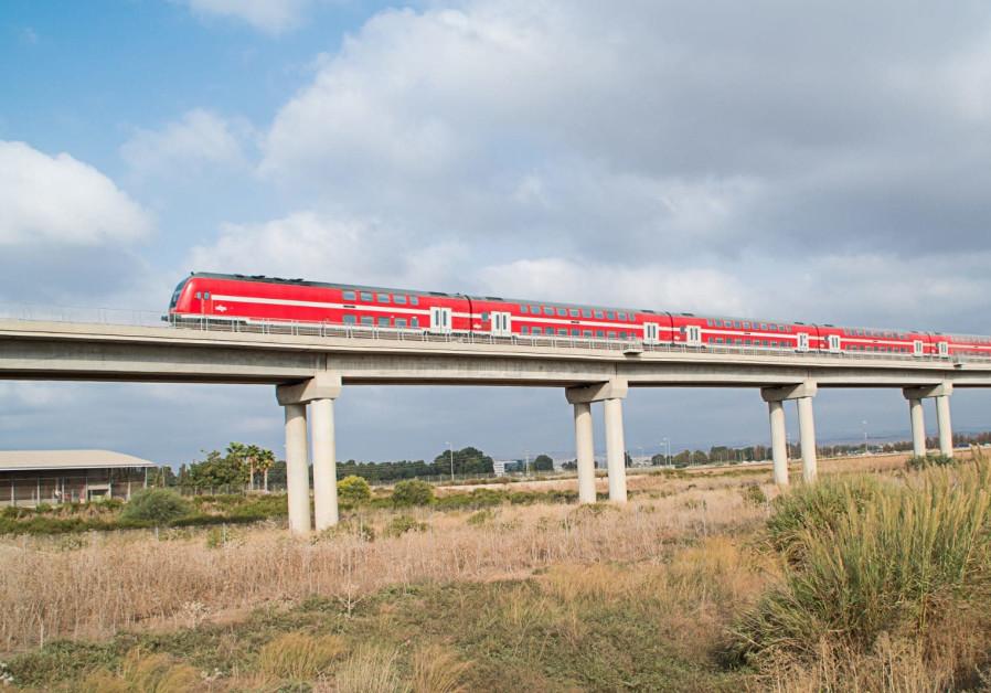 An Israel Railways train.