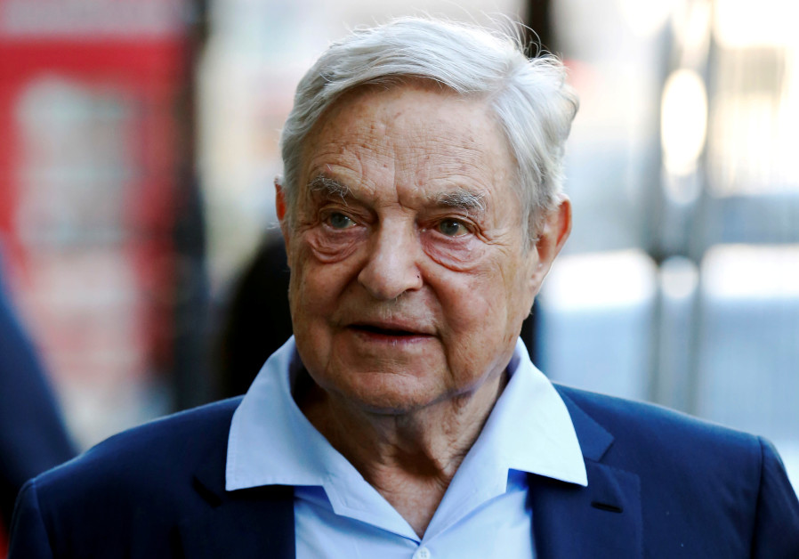 Business magnate George Soros arrives to speak at the Open Russia Club in London, Britain June 20, 2