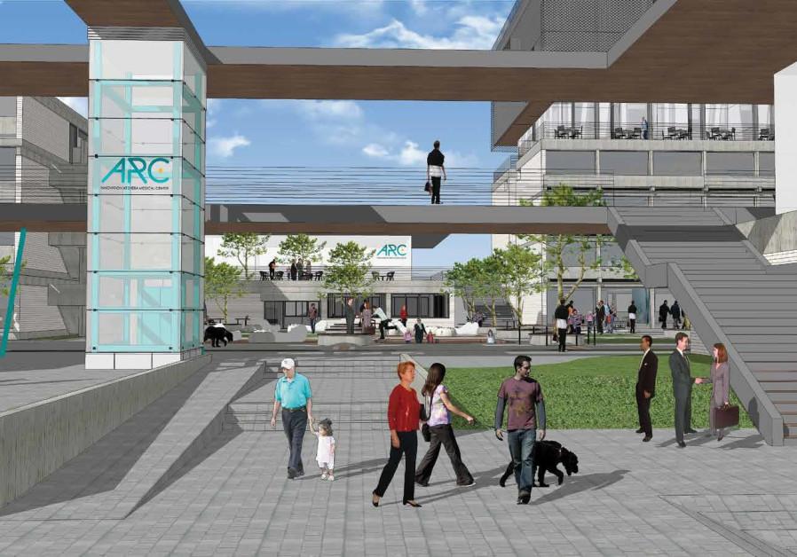 An illustration of Sheba's new ARC Innovation Center