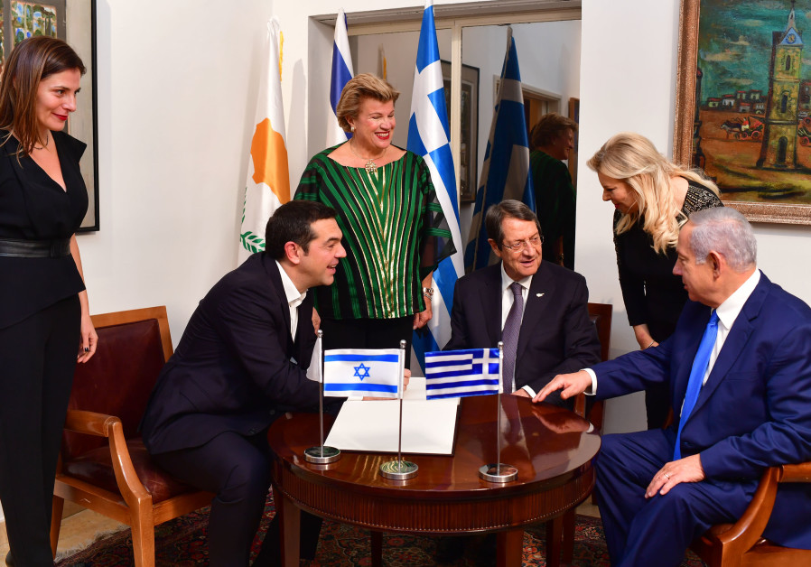 Prime Minister Benjamin Netanyahu and his wife Sara hosted the President of Cyprus Nicos Anastasiade