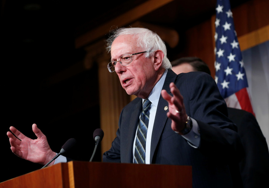 Senator Bernie Sanders (I-VT) speaks after the senate voted on a resolution ending U.S. military sup