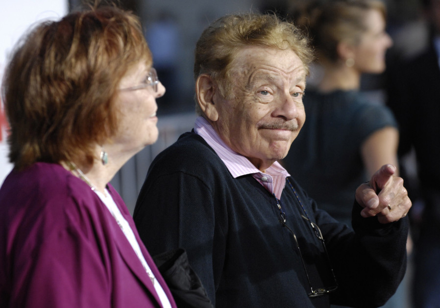 """Jerry Stiller, a cast member in """"The Heartbreak Kid"""", arrives with his wife Anne Meara at the premie"""