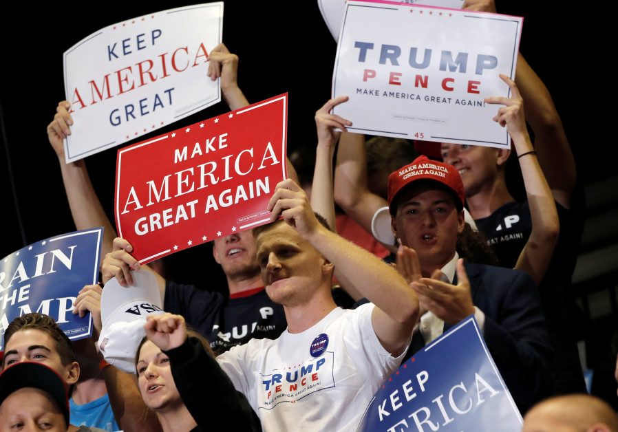 Supporters of U.S. President Donald Trump attend a rally in Springfield, Missouri