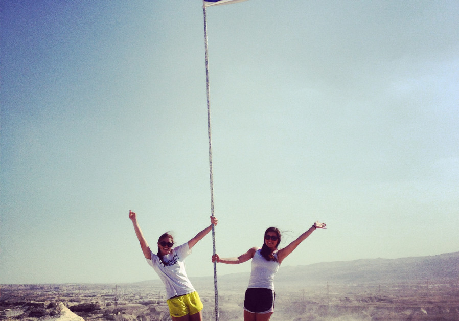 Birthright Israel participants show their love for Israel