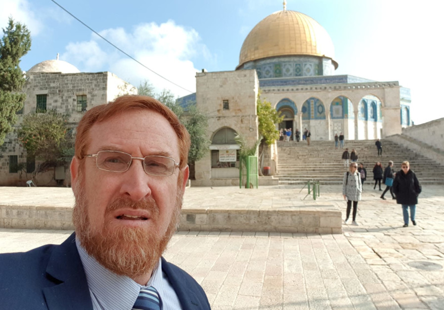MK Yehuda Glick on the Temple Mount, December 23, 2018