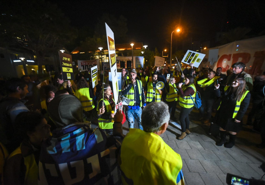"""Yellow vest"" protests in Tel Aviv."