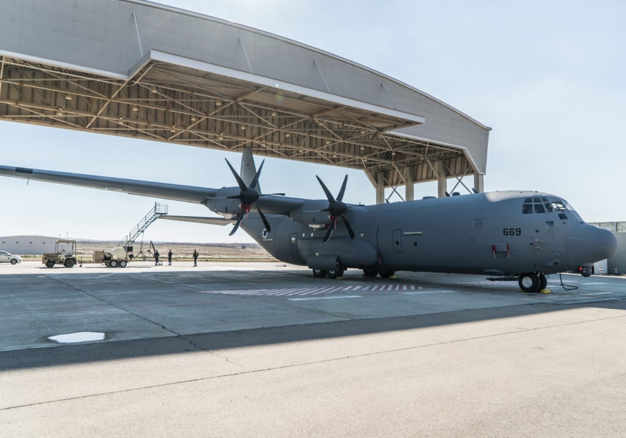 C-130J transport plane received by  Israel Air Force