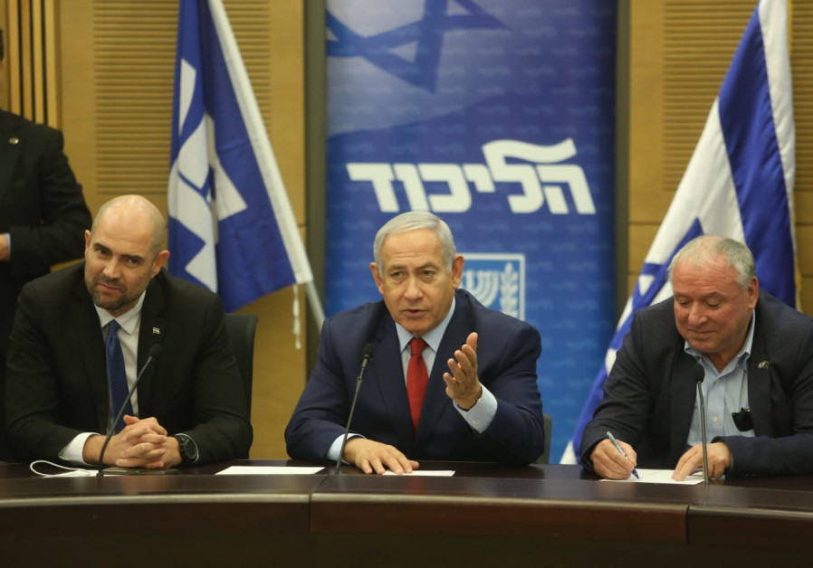 Prime Minister Benjamin Netanyahu and Likud members in December 24th, 2018