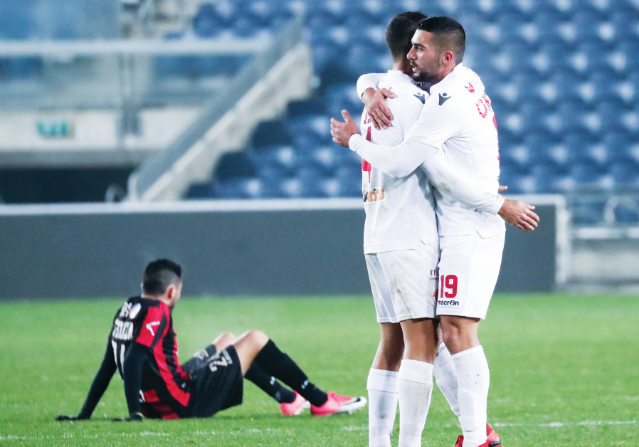 AFTER GOING down 1-0 to Hapoel Katamon, Hapoel Tel Aviv (in white) rallied back to claim a 2-1 road