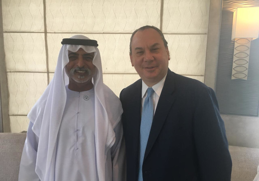 Rabbi Marc Schneier with United Arab Emirate's Minister of Tolerance, Sheikh Nahyan bin Mubarak.