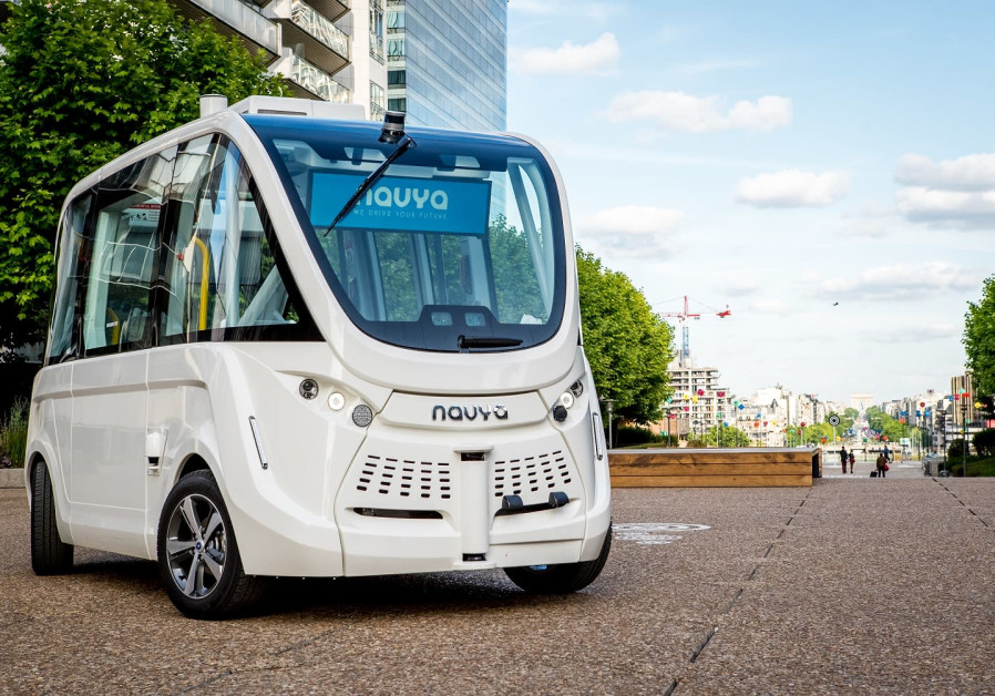 Navya's Autonom Shuttle which will transport students around Bar-Ilan University from April 2019.