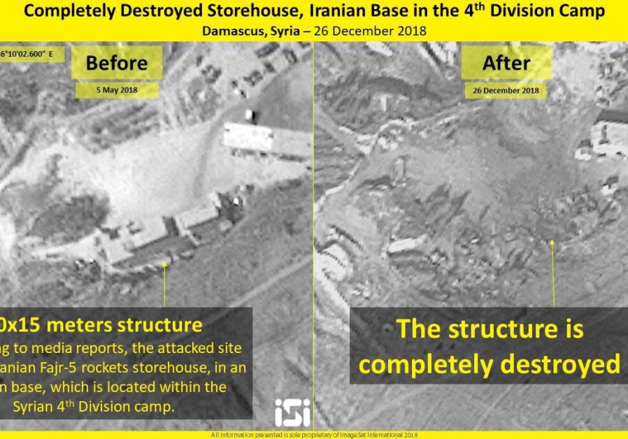 Satellite shows damage to Iranian bases in Syria after alleged Israeli strike