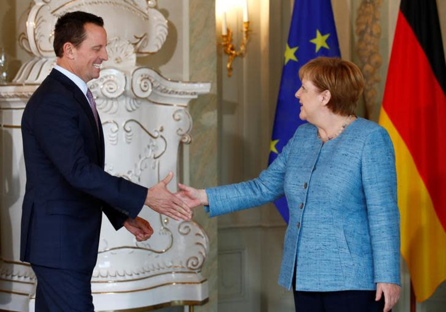 German Chancellor Angela Merkel receives the ambassador of U.S. to Germany, Richard Grenell.