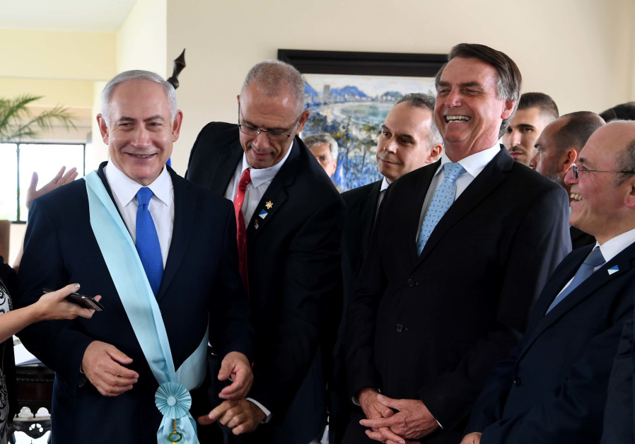 PM Netanyahu receives highest national decoration for visitors in Brazil.
