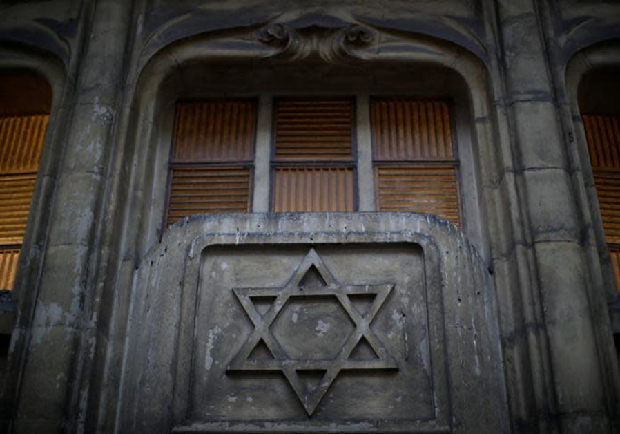 The Star of David is seen on the facade of a synagogue in Paris France, December 10, 2018.