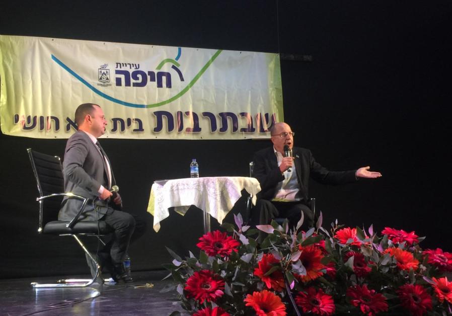 Former Defense Minister Moshe (Bogie) Ya'alon in Haifa.