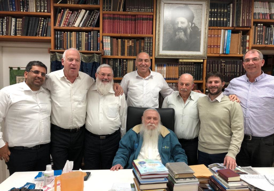 National Union members with Rabbi Druckman, Saturday December 29 2018