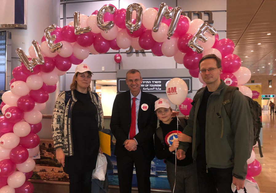Four millionth tourist arrives in Israel