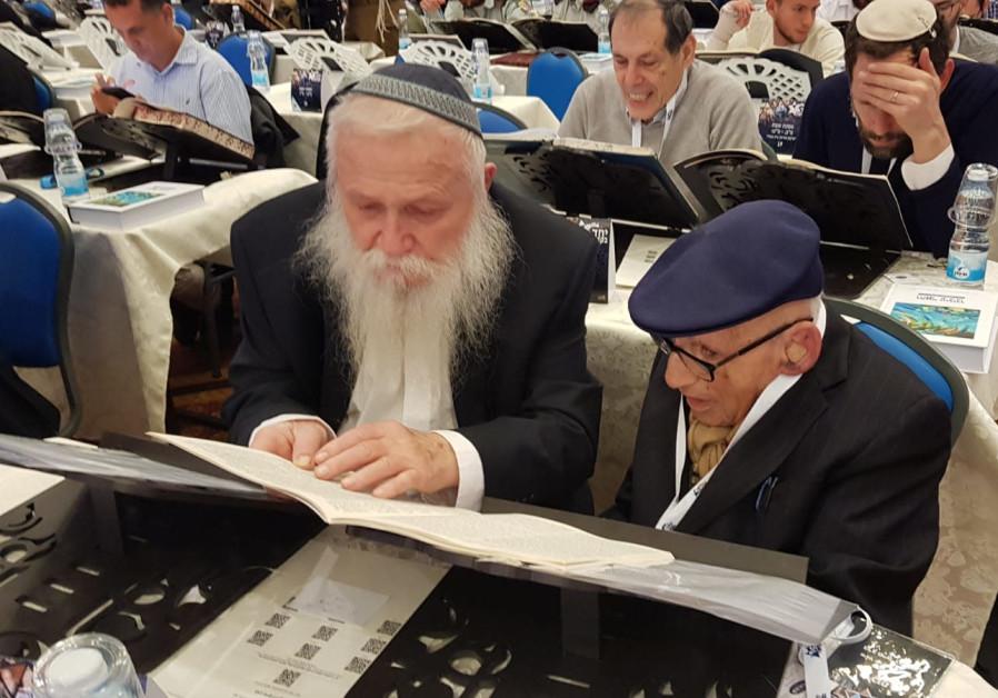 Rav Druckman with Mr. Kurt Rothschild..