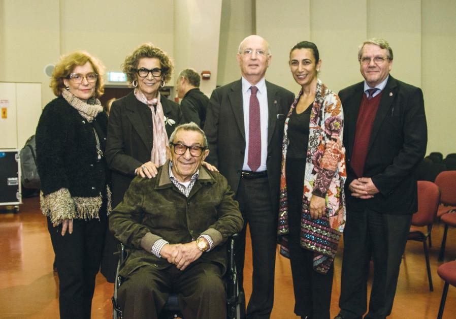 FROM LEFT, Amina Aharis, Soraya and Younes Nazarian, Yair Green, Sharon Nazarian and Noam Leef