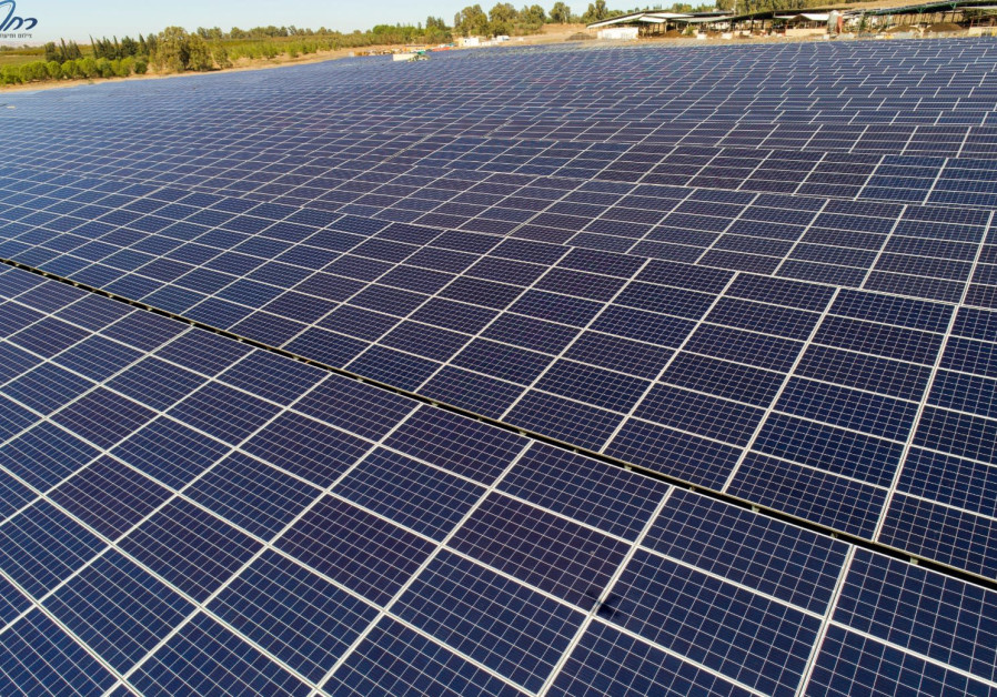 Solar panels at one of the projects of Enlight Renewable Energy