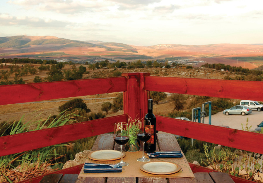 THE HERB FARM restaurant boasts a beautiful view of the valley and mountains, as well as delicious f