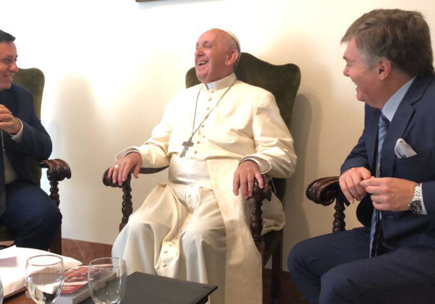 Labor chief, Avi Gabbay and Labor Knesset candidate Henrique Cymerman, and meeting Pope Francis