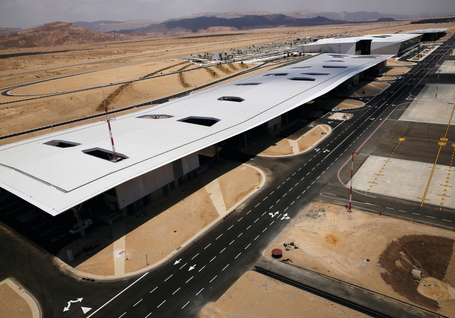 RAMON AIRPORT in the Timna Valley, north of Eilat.