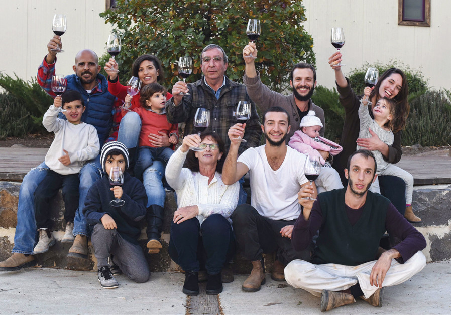 THE KEDEM family: All are involved in managing the winery, wine village and café. (Courtesy)