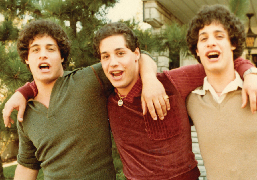EDDY, DAVID and Bobby in 'Three Identical Strangers.'