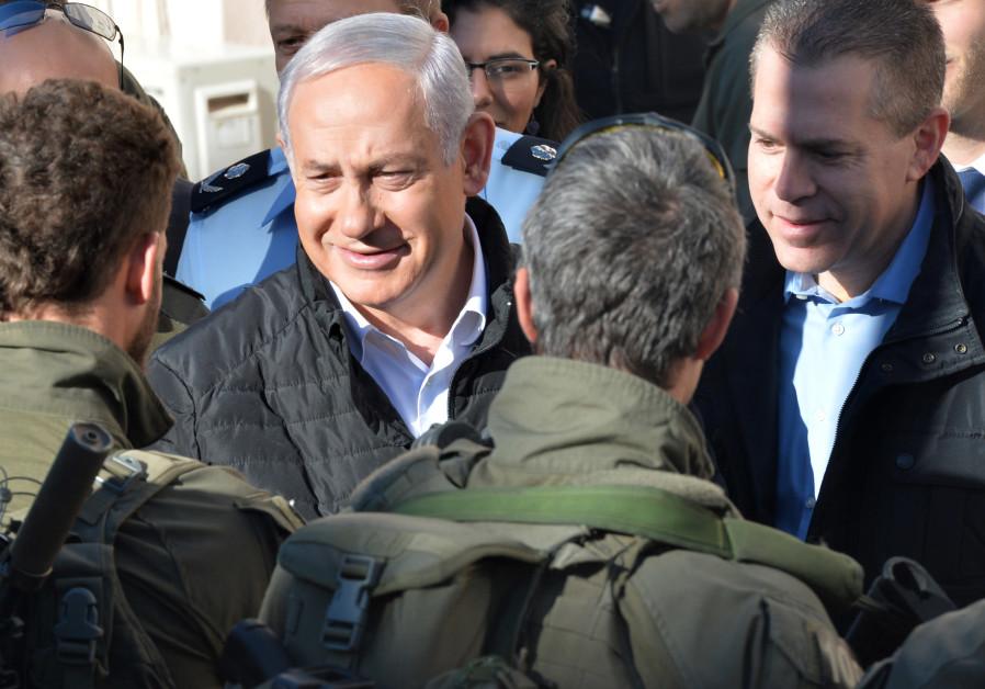 Prime Minister Benjamin Netanyahu and Interior Security Minister Gilad Erdan visit Yamam Unit