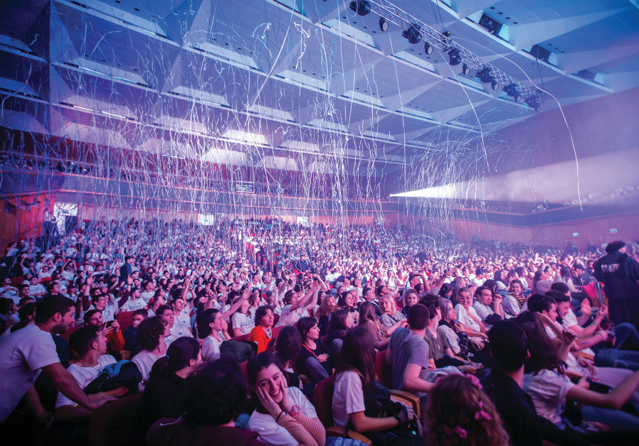 THOUSANDS OF young people from around the world attend a Taglit-Birthright Israel mega event in Jeru