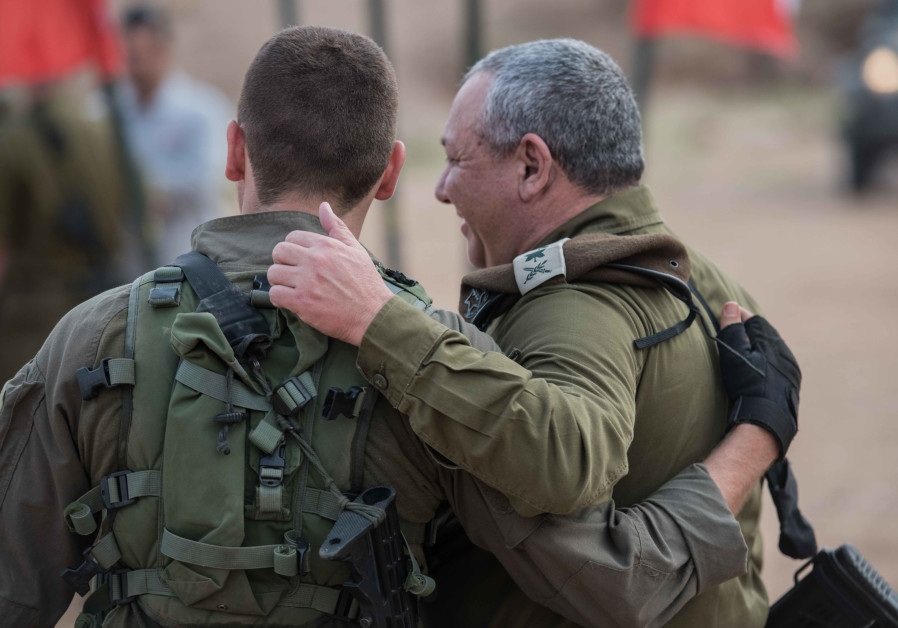 EISENKOT MEETS his son, an elite IDF soldier, during a recent military drill in the North.