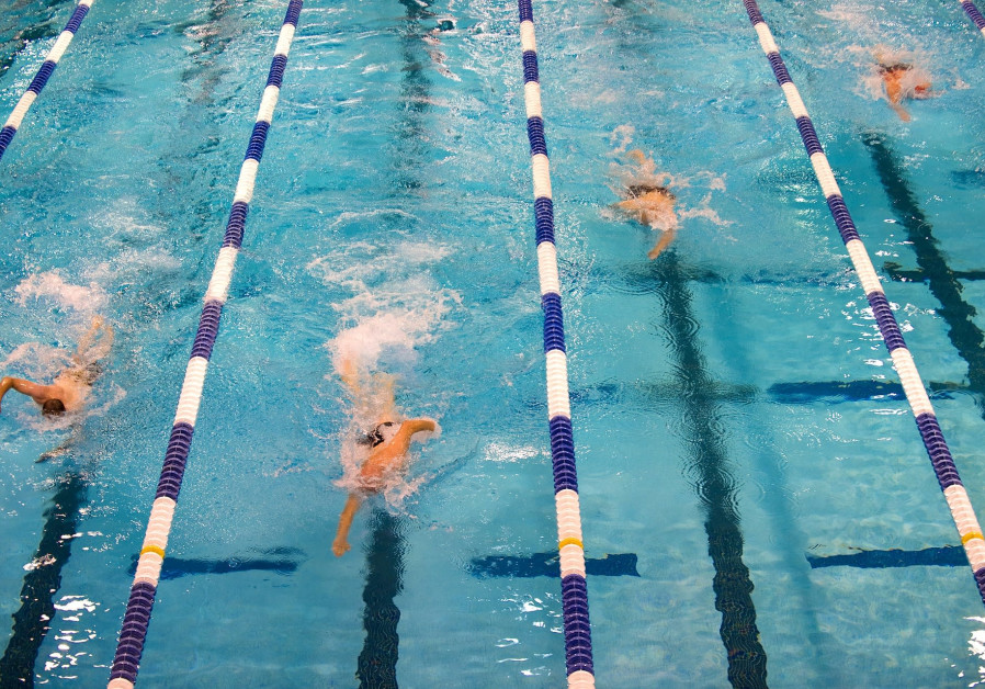 Swimming race [Illustrative]