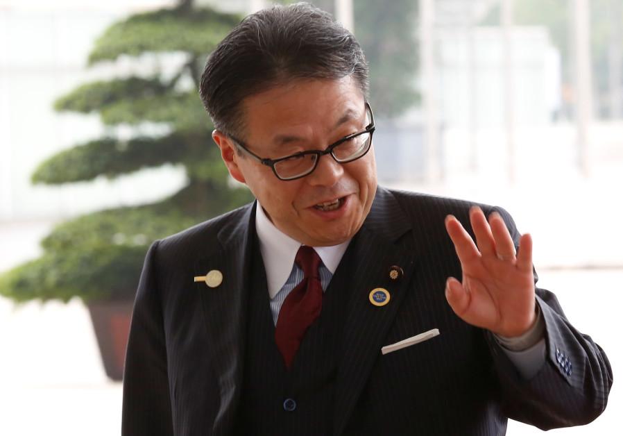 Japan's Trade Minister Hiroshige Seko arrives for the 3rd Inter-sessional Regional Comprehensive Eco