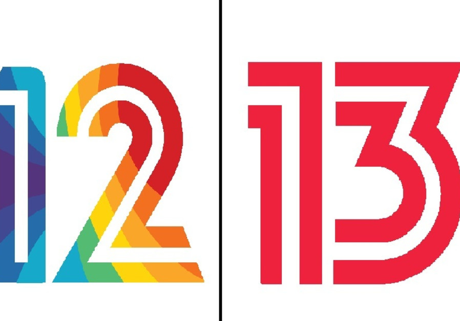 The logos of Channels 12 and 13