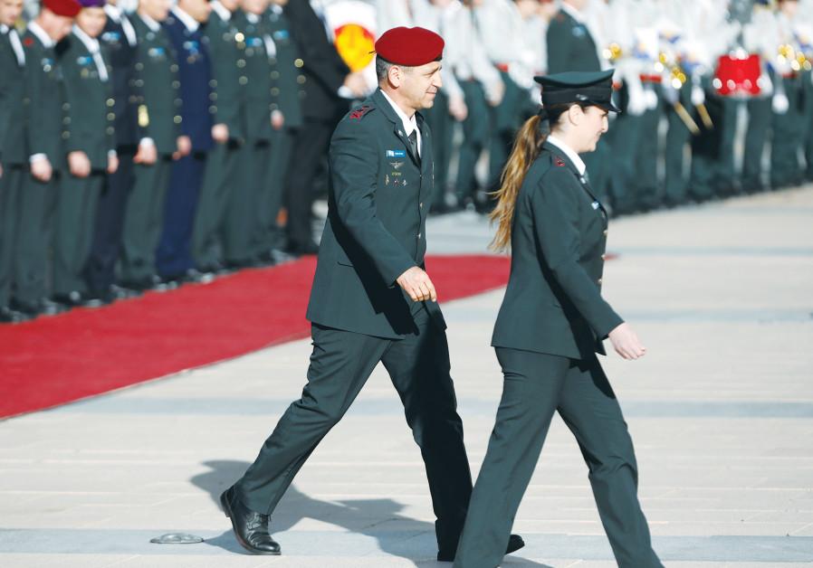INCOMING IDF Chief of Staff Lt.-Gen. Aviv Kochavi attends a handover ceremony at the Defense Ministr