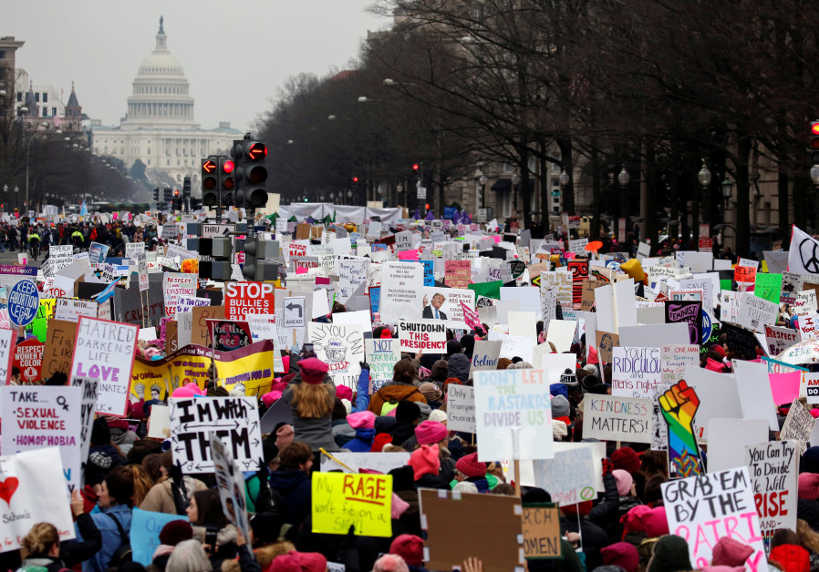 Thousands of people participate in Third Annual Women's March in Washington, US, January 19, 2019.