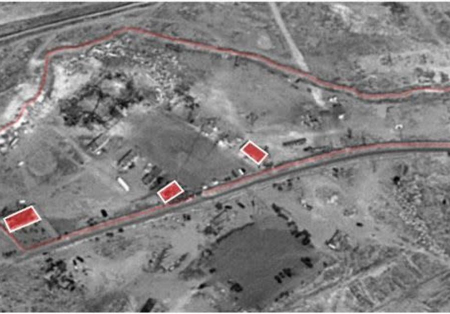 Iranian logistics site on a Syrian army base. (IDF Spokesperson's Unit)