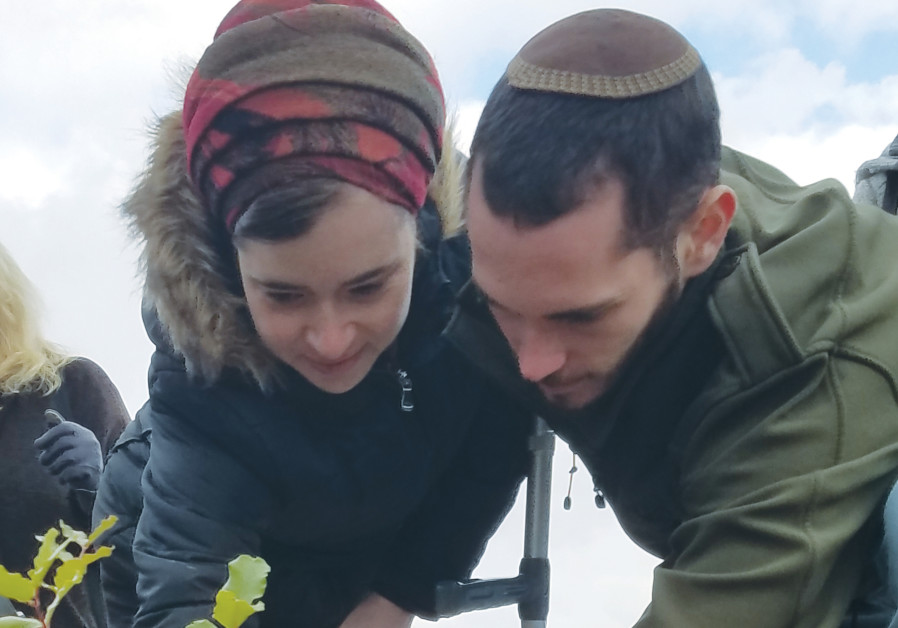 On Tu Bishvat, Ofra terror victims plant a new seed