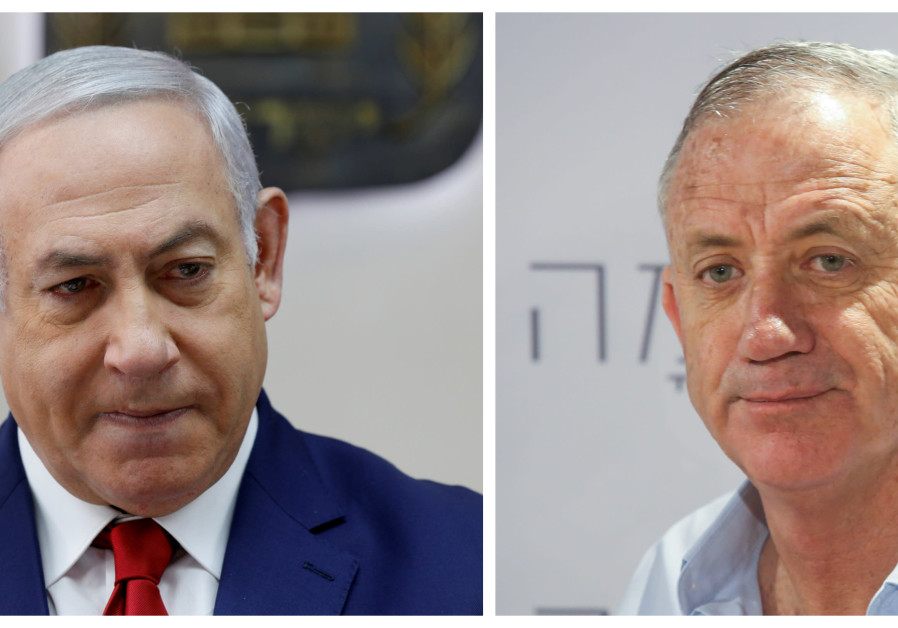 Collage of Prime Minister Benjamin Netanyahu and former IDF Chief of Staff Benny Gantz.