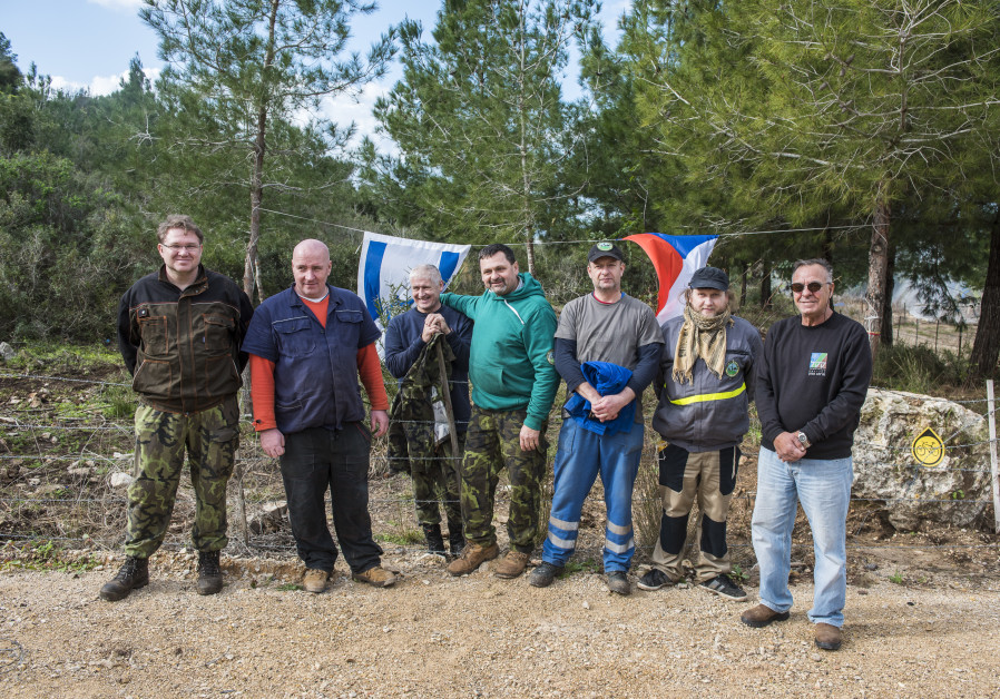 Czech Republic volunteers fly in to work in Carmel Forest