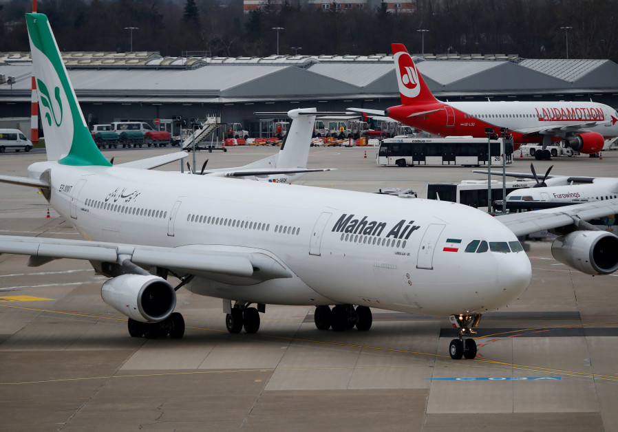 FILE PHOTO: An Airbus A340-300 of Iranian airline Mahan Air taxis at Duesseldorf airport, Germany.