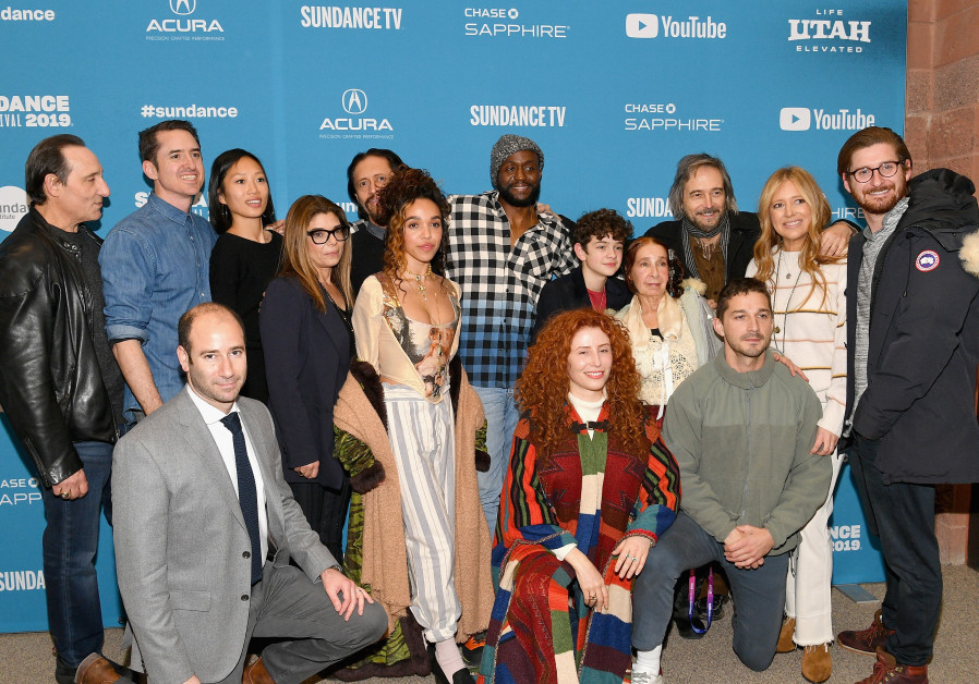 """The cast and crew attend the """"Honey Boy"""" Premiere during the 2019 Sundance Film Festival at Eccles C"""