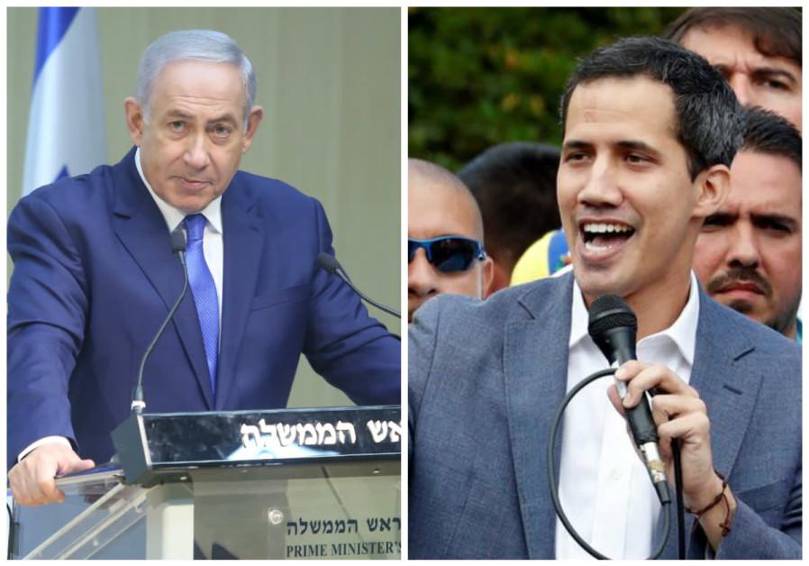 ISRAEL RECOGNIZES JUAN GUAIDÓ AS VENEZUELAN LEADER, NETANYAHU ANNOUNCES