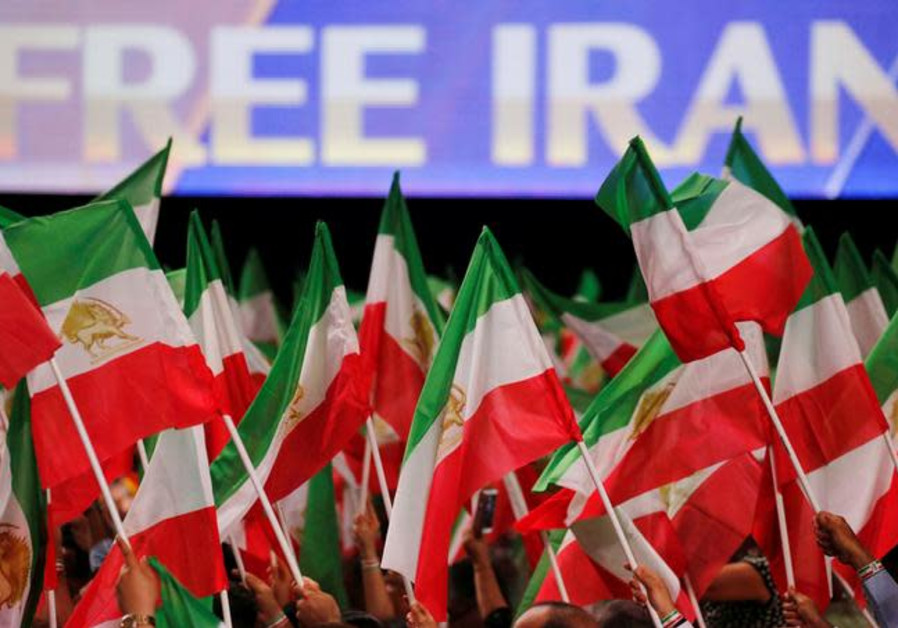 Supporters of Maryam Rajavi, president-elect of the National Council of Resistance of Iran (NCRI)
